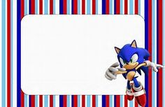 Image result for Free Invitations to Print Sonic