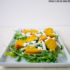 Roasted Beet, Shaved Fennel and Goat Cheese Salad with Orange Poppyseed Dressing Recipe | Cook . Snap . Savour