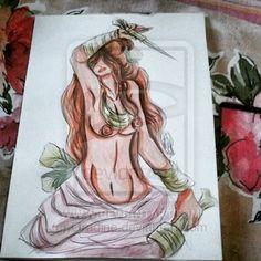 Maria Mulambo by Orádia N.C Porciúncula/  Aquarela em papel 30x40 R$ 180