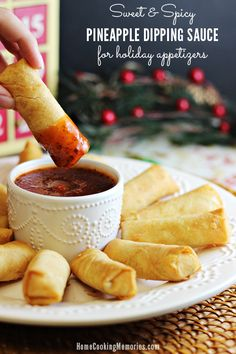 Sweet and Spicy Pineapple Dipping Sauce (for holiday appetizers) - Home Cooking Memories