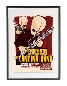 Star Wars 'The Cantina Band' Limited Edition by BarryDBulsara. $65.00, via Etsy.