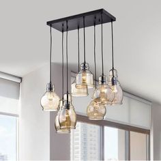Pruett Cognac Glass 8-Light Cluster Pendant