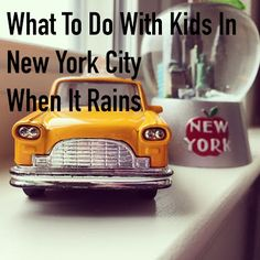What to do when traveling to New York City with kids when it rains. #newyorkcity #travelingwithkids #raininginnewyork