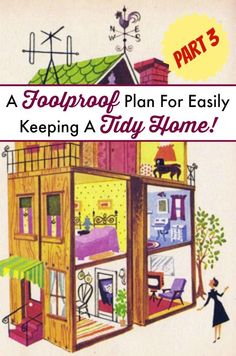 Looking for tips and tricks on how to keep a tidy home? Here is part 3 of a 3 part series describing how you can easily keep a neat and tidy home. Part 3 focuses on how to keep from dying of mind numbing boredom while cleaning your home. | The Glamorous Housewife
