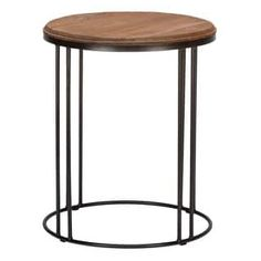 Shop for Burnham Reclaimed Wood and Iron Round Side Table by Kosas Home. Get free shipping at Overstock.com - Your Online Furniture Outlet Store! Get 5% in rewards with Club O! - 16092755