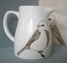 Ceramic Bird Jug by Faye Power