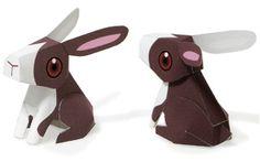 Animals - Rabbit Paper Toy For Kids : Pepakura Corner