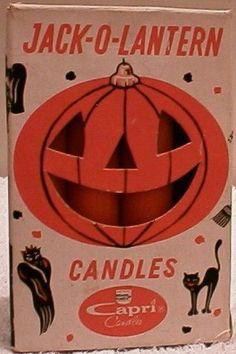 Vintage Halloween Ephemera ~ Jack-O-Lantern Candles by Capri Candles