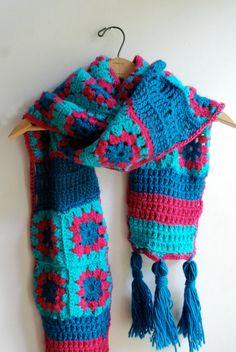 Scarf shawl granny square scarf crochet