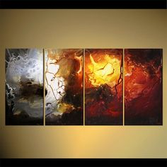 Modern Painting Original Abstract Art on Canvas by by OsnatFineArt