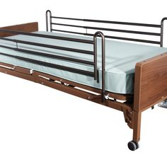 Full Electric Bed with Full Rails and Therapeutic Support Mattress
