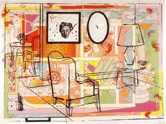 Interior with Built-in Bar (1992) [W/P] [Howard Arkley & Juan Davila]
