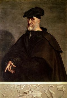 Portrait of Andrea Doria | Sebastiano del Piombo | c. 1526 | oil on panel | 60 x 42 in | Doria Pamphilj Gallery, Rome, Italy