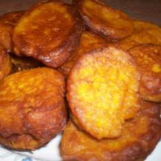 Pumpkin Fritters- imagine these topped with gorgonzola cream and crispy bacon bits :-) yum !!!