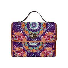 Bohemian Floral Hippie Waterproof Canvas Tote Crossbody Bag Shoulder Messenger Bags $40.89