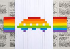Like pixels for presents! This would be awesome with ribbon too.