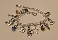 Schuyler Sisters Inspired Charm Bracelet Musical by musicissanity