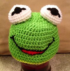 Hi-ho Kermit the frog here! This adorable hat is great for any Muppet fan from newborn up to adult! Made to order