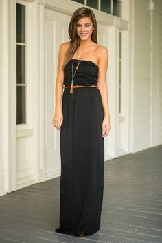 Cabana Chic Maxi Dress, Black - The Mint Julep Boutique