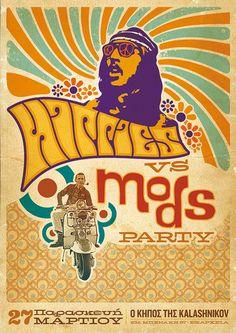Hippy vs Mods party