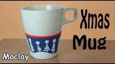 DIY Christmas Mug decoration - Polymer clay tutorial
