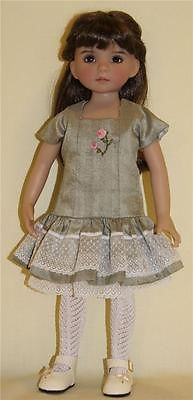 """Silk Dupoini Dress for 13"""" Effner Little Darlings by Alisewn 
