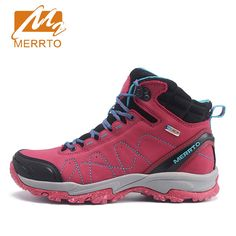3a7a9530332b MERRTO Women s Winter   Fall Leather Waterproof Outdoor Trekking Hiking  Boots Shoes Sneakers For Women Climbing Mountain Shoes