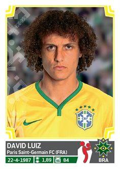 211 David Luiz - Brasil - Copa America Chile 2015 - PANINI