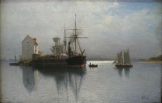 https://flic.kr/p/z6akhJ | Lev Lagorio - Seascape [1897] | Lev Lagorio (Feodosia, 1828 - 1905) was a Russian painter known for his seascapes. In 1845 Lagorio went on a sea voyage on the warship Groziashchy to study the arrangement of the ship. Lagorio spent eight years in Italy. The paintings he created there brought him to the status of professor on his return home to Russia.  [Ekaterinburg Museum of Fine Arts - Oil on canvas]