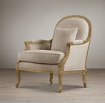 Lyon Chair with Burlap Back - two chairs