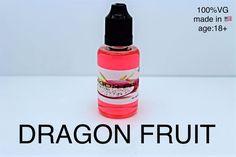 Dragon Fruit 2 x 30ml E-Liquid Vaporizer Juice USA Made No Nicotine 80 Flavors #vaping21
