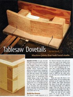 #1821 Table Saw Dovetail Jig - Joinery Tips, Jigs and Techniques