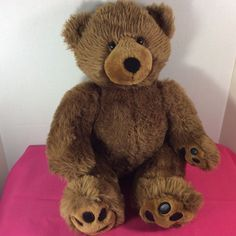 "BUILD-A-BEAR Plush Stuffed Animal Brown Teddy Bear w/o Clothes 18"" Movable Legs #BuildaBear #AllOccasion"