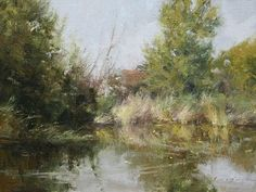 """The Atwood Pond by Simon Addyman Oil ~ 12"""" x 16"""""""