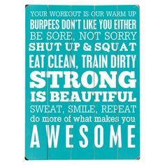 Fitness Wall Decor in Teal