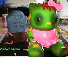 Hello Kitty Zombie Cake