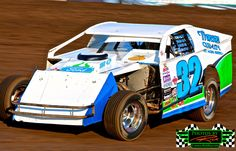 Eric Haugland from Lakota ND powering around The Legendary Bullring River Cities Speedway in his Ford Powered Midwest Modified. Eric is one of only a few Ford Powered race cars on race cars in the area.