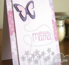 Felicidades #mama con un #tarjeta única #imaginehechoamano