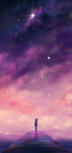 """Fondos de Pantalla Para Celular - sugarmint-dreams: """"Es kommt eine Zeit, in der wir einen Teil von uns loslassen. Galaxy Wallpaper, Wallpaper Backgrounds, Galaxy Lockscreen, Moon And Stars Wallpaper, Watercolor Wallpaper, Pretty Backgrounds, Anime Scenery Wallpaper, Wallpaper Space, Purple Wallpaper"""