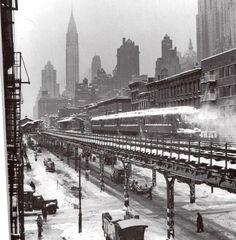 Third Avenue El, Chrysler Building, from about 55th street, 1947