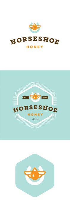 Horseshoe Honey Brand #honey #logo #branding #design