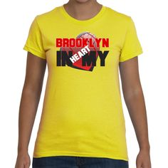 Ladies T-shirt Brooklyn in my Heart 5 colors. by Exclusive21