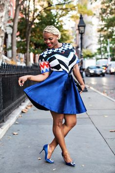 88af5455e4 Claire Sulmers fashion bomb daily sadie williams geometric t-shirt paper  london skirt manolo blahnik hangisi pumps milano electric blue skirt shalea  walker ...
