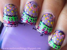 NailArt and Things: Colourful Festive Mani: Lotus herbals:Plum Delight