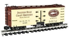 Bachmann #98695 Billboard Reefer- DogFish Head Brewery  This car features a plastic body, operating couplers and metal wheels.