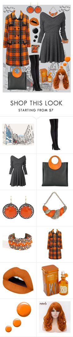 Orange & Gray by marlaj-50 on Polyvore featuring Hardy Amies, adidas Originals, Michael Kors, Andrea Fohrman, Urbiana, Atelier Maï Martin and Topshop