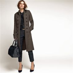 Open Cardigan-Style Lined Coat 70% Wool, 10% Cashmere Navy blue  ...