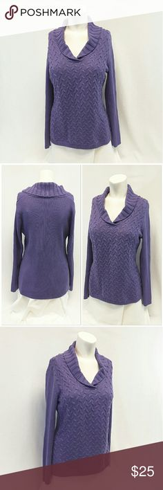"""Offers of 40% Less on BUNDLES Always Accepted! COLDWATER CREEK Shaw collar V-neck Sweater Pullover Top, size Medium 10 / 12 See Measurements, open weave knit front, rib-knit solid back and sleeves, machine washable, 60% cotton, 20% rayon, 20% polyester, approximate measurements: 26"""" length, 20"""" bust laying flat, 23"""" sleeves, 19"""" shoulder width. ADD TO A BUNDLE!  Offers of 40% Less on BUNDLES Always Accepted! Coldwater Creek Sweaters V-Necks"""