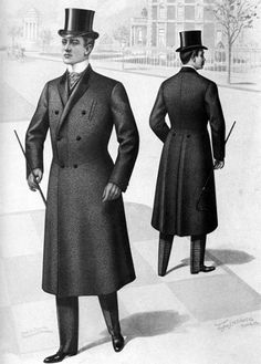 d766adc4 6. The Crinoline Period: Chesterfield jacket for men with top-hat ...