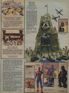 1979 Sears Christmas Catalog: Marx Play Sets and The Incredible Hulk Play Case 1960s Toys, Retro Toys, Vintage Toys, 1970s, Childhood Toys, Childhood Memories, Prehistoric Dinosaurs, Toy Catalogs, Christmas Catalogs